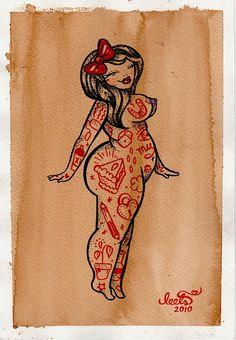 Pin Up #flash #tattoo