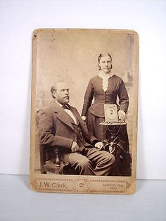 Antique Vintage Cabinet Card Photograph Picture of A Couple A Man and A Lady | eBay
