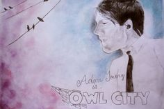 Owl City's Adam Young drawing <3
