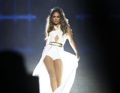 Pin for Later: Can't-Miss Celebrity Pics!  Jennifer Lopez strutted into the spotlight during her performance in Singapore on Sunday.