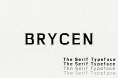Brycen Serif Premium Font Family by CreativeWhoa on @creativemarket