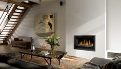 De #Bellfires Unica-2 90 is een inbouw #gashaard met een open systeem. #gaskachel #Kampen #interieur #Fireplace #Fireplaces