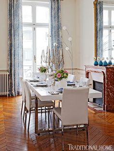 Home Tour: Romantic Paris Apartment via The Suite Life Designs Paris Apartment Interiors, French Apartment, Parisian Apartment, Paris Apartments, Townhouse Designs, Suite Life, Life Design, Traditional House, Fine Dining