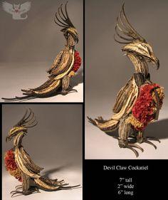 Devil Claw Cockatiel by ART-fromthe-HEART on DeviantArt