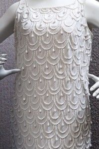 Detail of a beaded Gwen Gillam shift dress, ca. 1960s / Queensland Museum http://www.qm.qld.gov.au/ | thefashionarchives.org