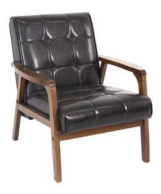 black u0026 brown club chair by baxton studio zulilyfinds