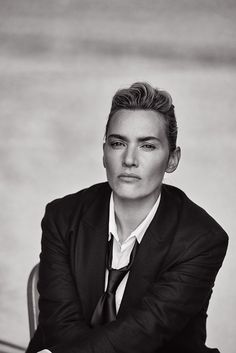 Kate Winslet photographed masculine of center by Peter Lindbergh is messing with my sexuality right now.