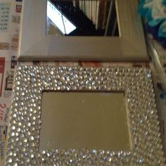 Bling bling wall. Think im going to do this to a boring mirror.