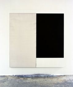 Exposed Painting, Paynes Grey/Yellow Oxide (1998) - Callum Innes