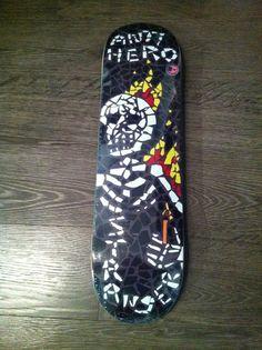 Sweet mosaic skeleton series ///// #skateboard #skate #deck #skeleton #series