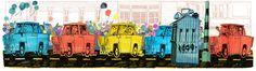 Google Doodle vom 03.10.2013 - Tag der deutschen Einheit. Veröffentlichung nur in Deutschland