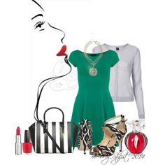 """""""Green & Print"""" by bemystylist on Polyvore"""
