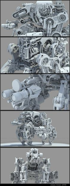 Bot3 - WIP- by ~chiaroscuro on deviantART