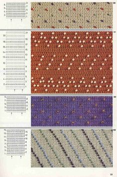 "Photo from album ""Burda узоры"" on Yandex. Crochet Stitches Patterns, Stitch Patterns, How To Make Beads, Views Album, The Originals, Simple, Yandex Disk, Beading, Anna"