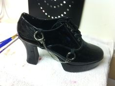 platform shoes with handcuffs