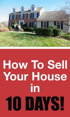 How to sell a house in 10 days! Yes it can be done. It takes some work, but it can be done even in today's real estate market. Sharing how my husband made it happen. | In My Own Style
