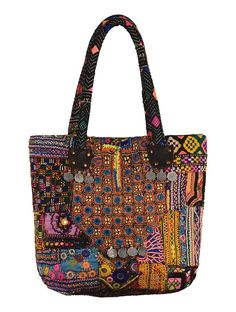 Multi-Color Embroidered Nomad Tote Bag, Rs.3850, www.jaypore.com