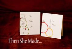 Then she made...: Quick, Kid-Friendly DIY Christmas Card