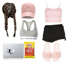 """""""#LazyDay"""" by pandadonuttwin ❤ liked on Polyvore featuring Bec & Bridge, Vinyl Revolution, Puma, Calvin Klein and WearAll"""
