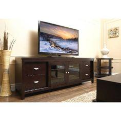 [SAVE 50%] Abbyson Living HM-5410-1340 Riviera Entertainment Console TV Stand in Cappuccino