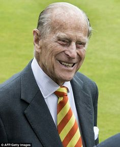 Prince Philip at Lord's cricket grounds. May 3 2017
