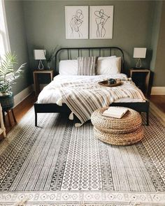 bedroom decor for couples . bedroom decor for small rooms . bedroom decor ideas for women . bedroom decor ideas for couples Master Bedroom Design, Home Bedroom, Ikea Bedroom, Mirrored Bedroom, Master Suite, Bedroom Rustic, Green Master Bedroom, Bedroom Furniture, Green And White Bedroom