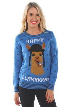 Women's Happy Llamakkah Sweater
