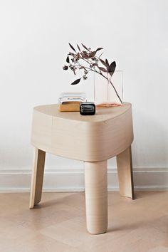 Dutch designer Ineke Hans has chosen to display her stacking Plektra stool for Finnish brand Iittala.