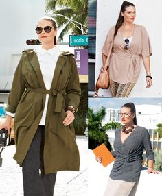I like the keyhole blouse and the jacket with tied waist  Urban Native: 10 Plus Size Designs