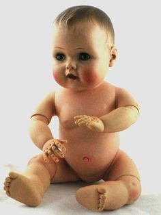 Vintage American Character Baby Doll Drinks Wets Double Jointed Rubber Vinyl Z Doll Toys, Baby Dolls, Tiny Tears Doll, Rubber Doll, Vinyl Dolls, Old Dolls, Retro Toys, Dollhouse Dolls, Collector Dolls