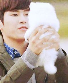 Hoya and a puppy<3