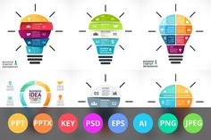 PowerPoint and Keynote Light Bulbs. by TheSeamuss on @creativemarket