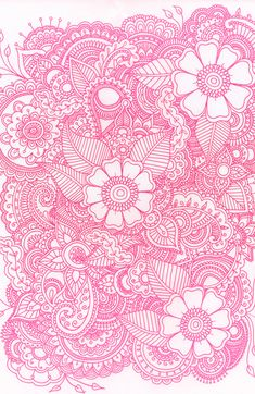 Henna Design - Pink Art Print by Haleyivers | Society6