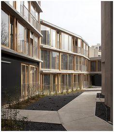 20 logements sociaux, Babled-Nouvet-Reynaud Architectes (BNR), 2013. Rue des Orteaux, Paris.