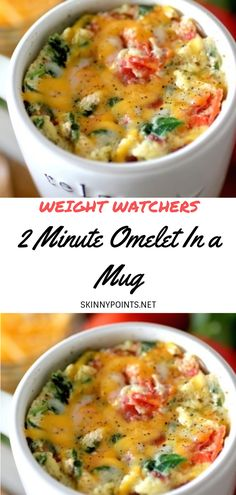 3 min · Vegetarian Gluten free · Pour 1 · Breakfast is very important. But mornings are hard when you are short on time. Omelet in a mug is a quick break idea. Try this delicious spinach and feta omelet in a mug 5 ingrédients Weight Watcher Mug Cake, Weight Watchers Breakfast, Weight Watchers Meals, Breakfast In A Mug, Breakfast Recipes, Breakfast Ideas, Healthy Breakfast Omelet, Ww Recipes, Cooking Recipes