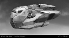 blast_12 space ship spaceship carrier vessel hovercraft dropship class 1 2 concept design by scott robertson by iampariah, via Flickr