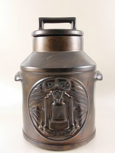 McCoy Bicentennial Milk Can with Liberty Bell Cookie Jar
