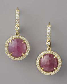 Penny Preville Pink Sapphire & Diamond Drop Earrings - Neiman Marcus