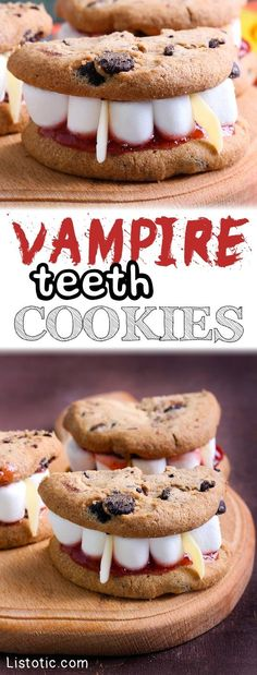 How to make Vampire Teeth Cookies for halloween