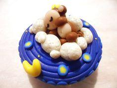 Polymer Clay Sleeping Monkey Trinket Box. $15.00, via Etsy.