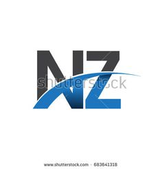initial letter NZ logotype company name colored blue and grey swoosh design. vector logo for business and company identity. Business Card Template Photoshop, Company Names, Company Logo, Construction Design, Initial Letters, Business Branding, Logo Inspiration, Identity, Finance