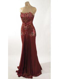 blue. 1940s old hollywood glamour dress | ... Burgundy Old Hollywood Glamour Evening Dress-Vintage Style Gowns