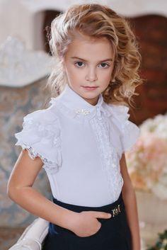 Нарядная блузка для девочки арт.163627
