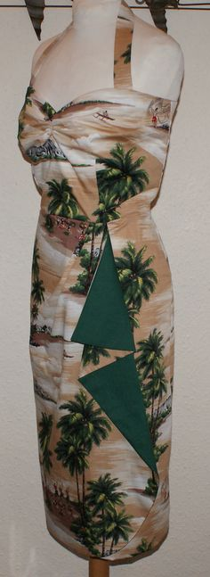 Vintage 1950s inspired bombshell Hawaiian halter by OuterLimitz, £75.00