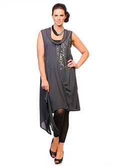 Plus Size women's Clothing, Large Size Fashion Clothes for WOMEN in Australia - CASCADES DRESS - TS14