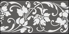 Regency and Empire  Border No 24 stencils, stensils and stencles