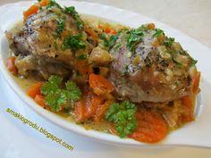 Smaki ogrodu: GOLONKI Z INDYKA DUSZONE W WARZYWACH Beef, Chicken, Food, Meat, Eten, Ox, Ground Beef, Meals, Cubs