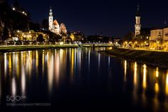 Night Lights in Salzburg by smainini71 #architecture #building #architexture #city #buildings #skyscraper #urban #design #minimal #cities #town #street #art #arts #architecturelovers #abstract #photooftheday #amazing #picoftheday
