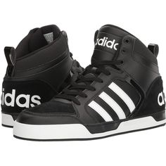 adidas Raleigh 9TIS (Black/White) Men's Basketball Shoes ($60) ❤ liked on Polyvore featuring men's fashion, men's shoes, men's sneakers, black, mens sneakers, mens black sneakers, mens leather lace up shoes, men's pointed leather shoes and black white mens dress shoes