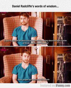 Daniel Radcliffe is my spirit animal. Daniel Radcliffe is my spirit animal. Daniel Radcliffe, Slytherin, Hogwarts, Sherlock, Shatter Me, 4 Panel Life, Funny Memes, Hilarious, Funny Gifs